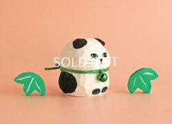 画像2: 第2回抽選販売対象品 木彫り人形  パンダスコちゃん1 4センチ幅